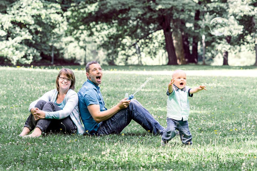 Familie, Mama, Papa, Sohn